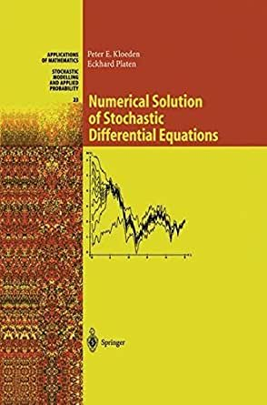 stochastic differential equations solution manual