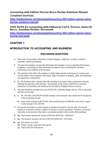 accounting 25th edition solutions manual chapter 17