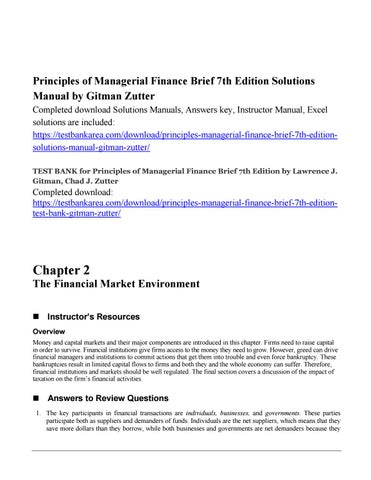 principles of managerial finance gitman 12th edition solutions manual pdf