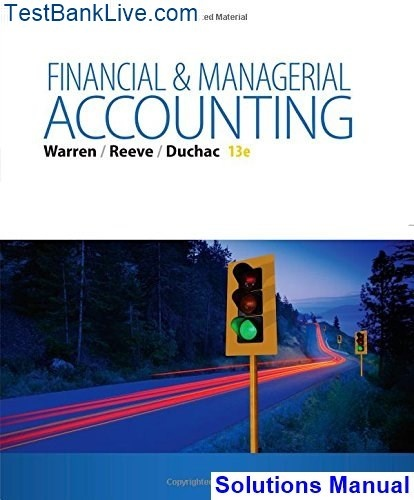 managerial accounting 12th edition solutions manual pdf