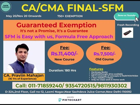 ca final sfm practice manual exercise solutions