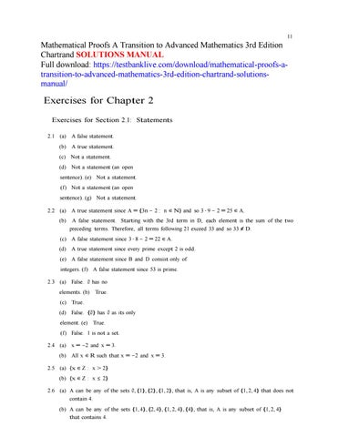 a friendly introduction to number theory solutions manual
