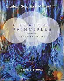 solutions manual zumdahl chemistry 7th edition
