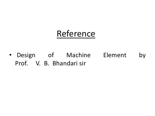 vb bhandari machine design solution manual